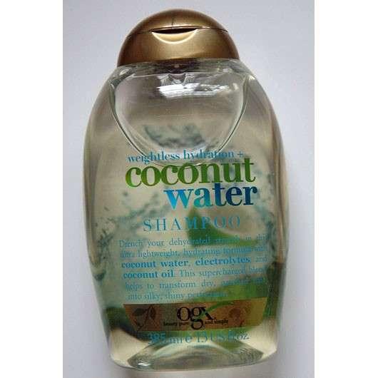 test shampoo ogx weightless hydration coconut water. Black Bedroom Furniture Sets. Home Design Ideas