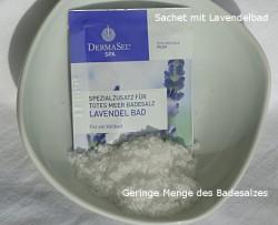 Produktbild zu DermaSel Spa Totes Meer Badesalz Lavendel Bad