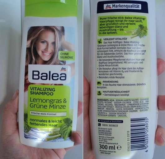 test shampoo balea vitalizing shampoo lemongras gr ne minze testbericht von naddl89. Black Bedroom Furniture Sets. Home Design Ideas