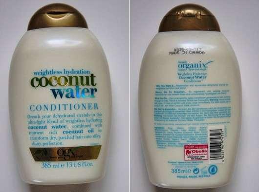 OGX weightless hydration coconut water conditioner
