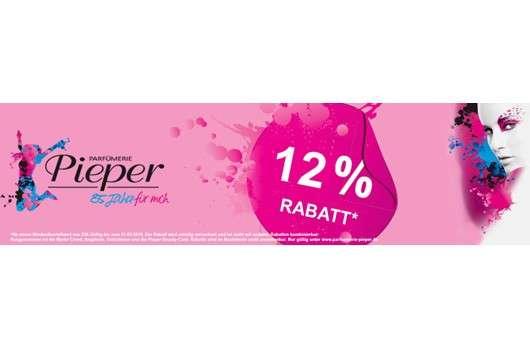 Aktion abgelaufen: Gutschein: 12% Rabatt bei Parfumerie-Pieper