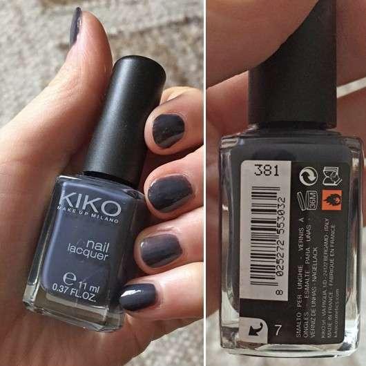 KIKO Nail Lacquer, Farbe: 381 Purple Grey