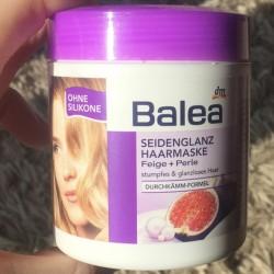 Produktbild zu Balea Seidenglanz Haarmaske Feige + Perle