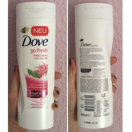 Dove go fresh Body Lotion mit Granatapfel- & Zitronenverbene