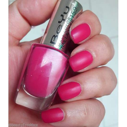 BeYu Matt Color Nail Lacquer, Farbe: 159 Pink Party (LE)