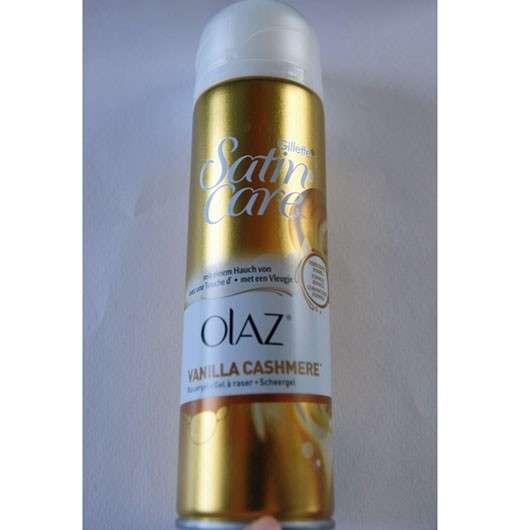 Gillette Satin Care Rasiergel mit einem Hauch von Olaz (Vanilla Cashmere)