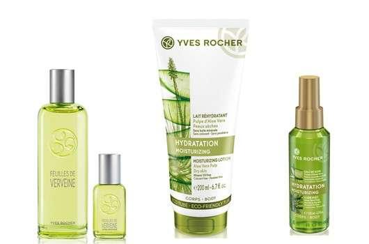 Yves Rocher Körperpflege-Produkte mit Aloe Vera und Zitronenverbene