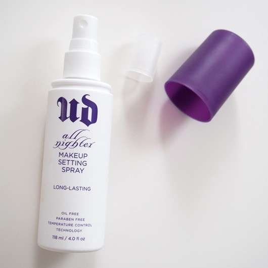 test make up fixing spray urban decay all nighter long. Black Bedroom Furniture Sets. Home Design Ideas