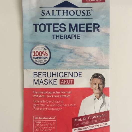 Salthouse Totes Meer Therapie Beruhigende Maske Akut