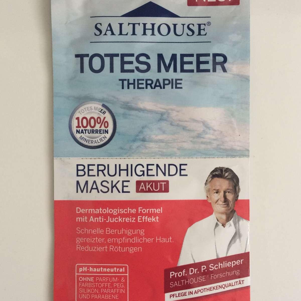 Test Maske Salthouse Totes Meer Therapie Beruhigende Maske Akut