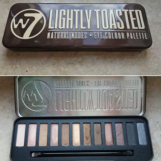 W7 Lightly Toasted Natural Nudes Eye Colour Palette