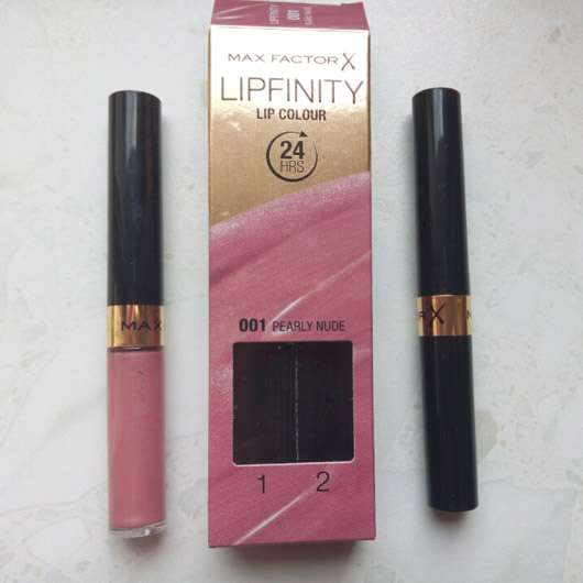 Max Factor Lipfinity Lip Colour, Farbe: 001 Pearly Nude