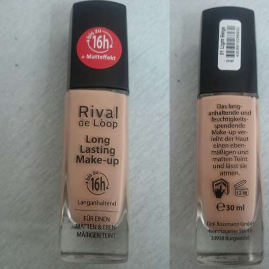 Rival de Loop Long Lasting Make-up, Farbe: 01 Light Beige