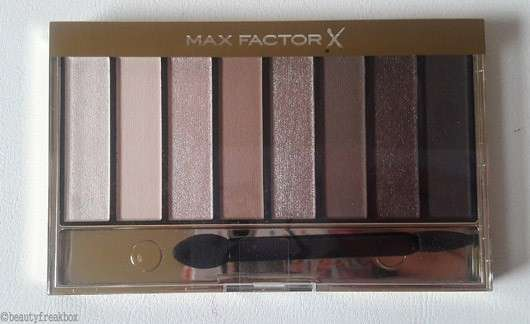 test eyeshadow max factor masterpiece nude palette farbe 01 cappuccino nudes le. Black Bedroom Furniture Sets. Home Design Ideas