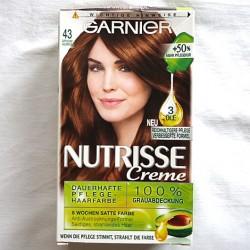 Produktbild zu Garnier Nutrisse Creme Dauerhafte Pflegehaarfarbe – Farbe: 43 Goldbraun Cappuccino