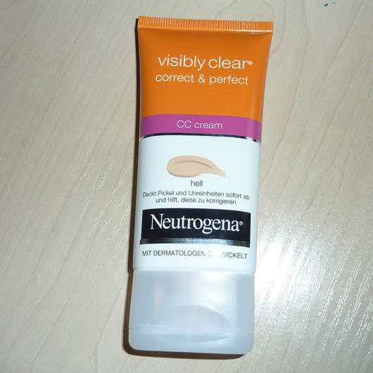 Neutrogena Visibly Clear correct & perfect CC cream, Farbe: Hell