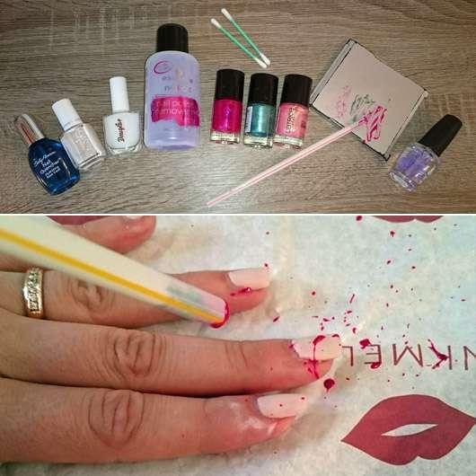 Gewaltfreie Splatter Nails ;-)