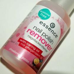 Produktbild zu essence nail polish remover hardening (strawberry & passion fruit fragrance)