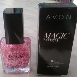Produktbild zu AVON Magic Effects Lace Nail Enamel – Farbe: Delicate Pink