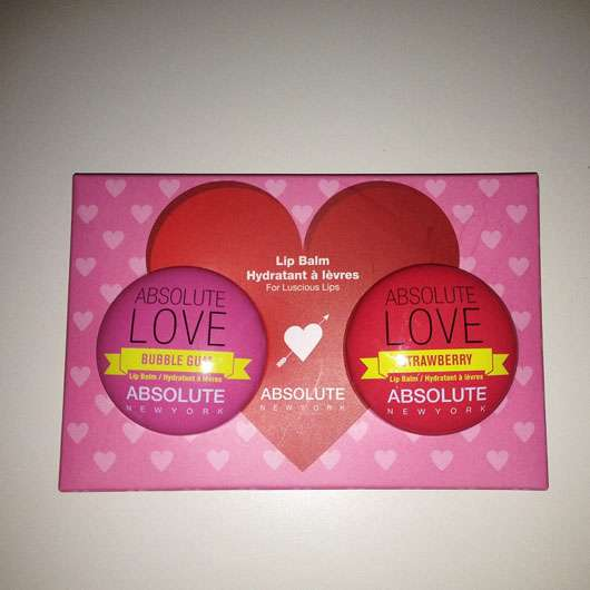 "ABSOLUTE NEW YORK Duo Lip Balm ""Absolute Love"" (Strawberry + Bubble Gum)"
