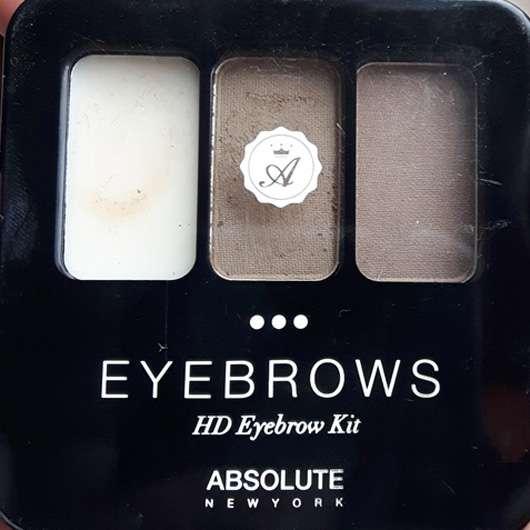 ABSOLUTE NEW YORK HD Eyebrow Kit, Farbe: AEBK01 Ash Blonde