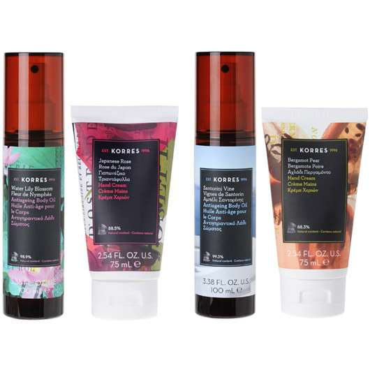 KORRES Anti-Ageing Body Oils & Hand Creams