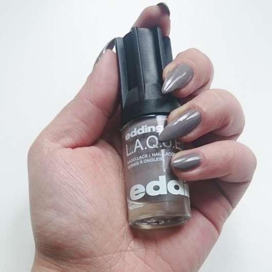 edding L.A.Q.U.E. Nail Lacquer, Farbe: 194 greedy grey