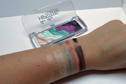p2 for the hipsters eye shadow palette-swatch