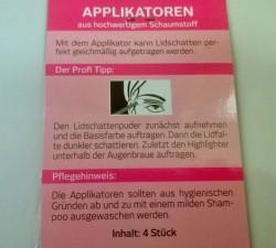 for your Beauty Basic Applikatoren