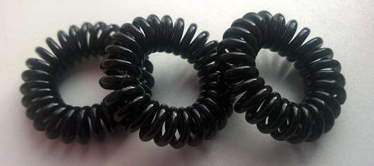 Ininvisibobble ORIGINAL Collection Haargummi, Farbe: True Black - drei Haargummis