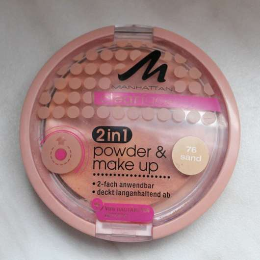 <strong>MANHATTAN CLEARFACE</strong> 2in1 powder & make-up - Farbe: 76 sand