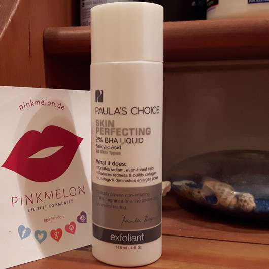 Paula's Choice Skin Perfecting 2% BHA Liquid Peeling Design und Fasche