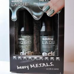 Produktbild zu edding L.A.Q.U.E. heavy M.E.T.A.L.S. Nagellack – Farbe: full metal S.T.E.E.L. (LE)