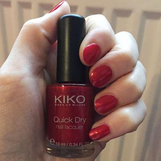 KIKO quick dry nail lacquer, Farbe: 846 Metallic Red