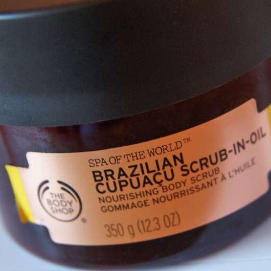 The Body Shop Spa of the World Brazilian Cupuacu Scrub-In-Oil