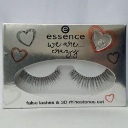 Produktbild zu essence we are… crazy false lashes & 3D rhinestone set – 01 I'm crazy like you (LE)