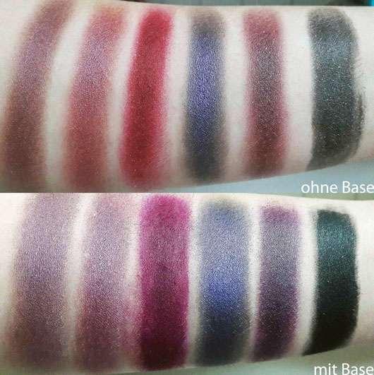 Sleek MakeUP Vintage Romance I Divine Lidschatten Palette - Farben auf dem Arm aufgetragen