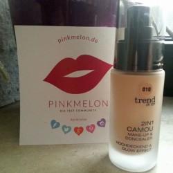 Produktbild zu trend IT UP 2in1 Camou Make-up & Concealer – Farbe: 010