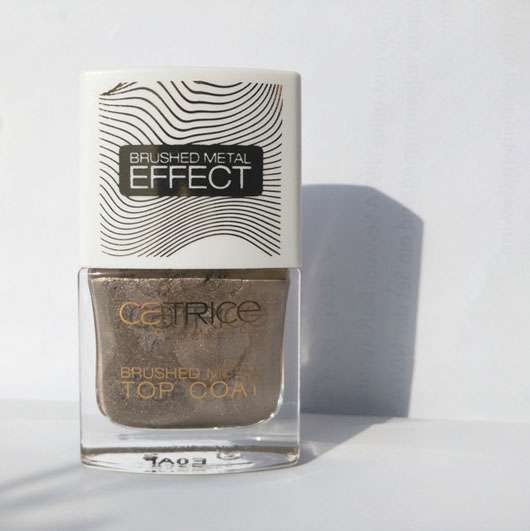 Catrice Brushed Metal Top Coat, Farbe: C01 Minimalist Melted Metal (LE) Flasche