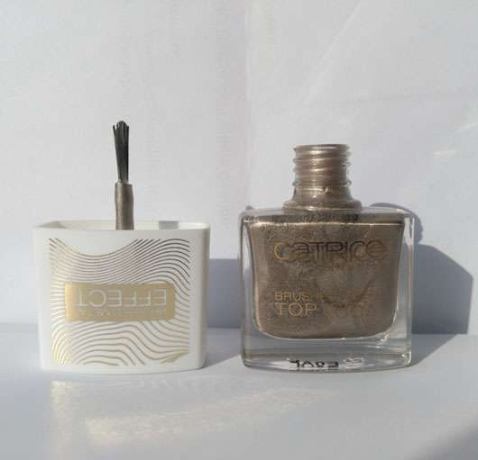 Catrice Brushed Metal Top Coat, Farbe: C01 Minimalist Melted Metal (LE) Pinsel