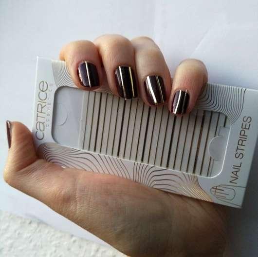 Catrice Nail Stripes, Farbe: C01 Simple Understatement (LE) - auf den Nägeln