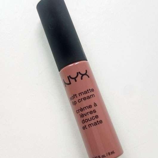 test lippenstift nyx soft matte lip cream farbe abu. Black Bedroom Furniture Sets. Home Design Ideas