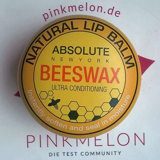 "ABSOLUTE NEW YORK Natural Lip Balm ""Beeswax"""