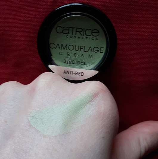 Catrice Camouflage Cream Anti-Red - Swatch