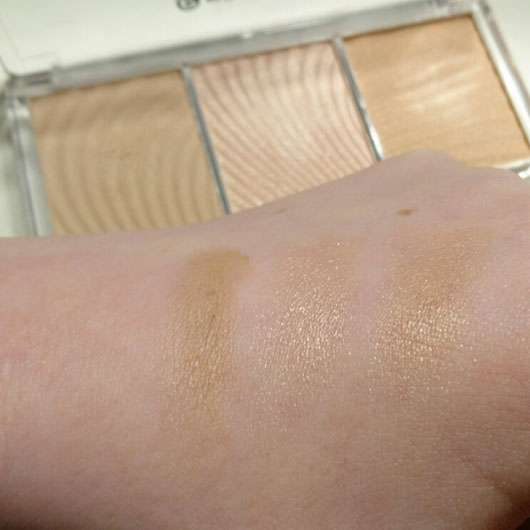 essence light up your face luminizer palette, Farbe: 10 ready, set, glow! - Swatch