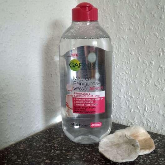 Garnier Skin Naturals Mizellen Reinigungswasser All-in-1 (trockene & empfindliche Haut) - benutzte Wattepads