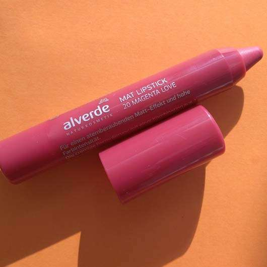 alverde Mat Lipstick, Farbe: 20 Magenta Love