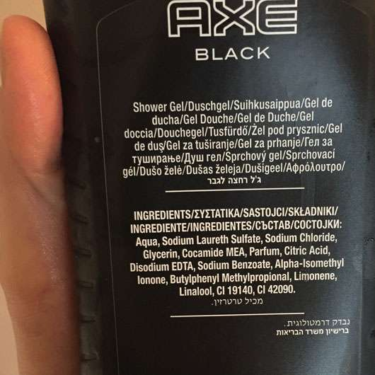 AXE Black Body Wash XL - Rückseite