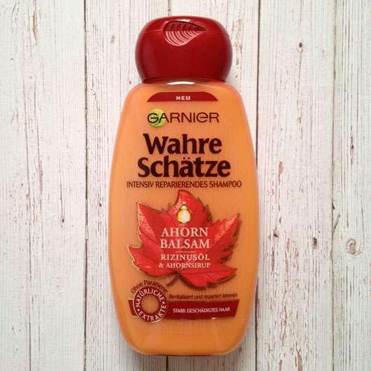 Test Shampoo Garnier Wahre Schätze Ahorn Balsam Rizinusöl