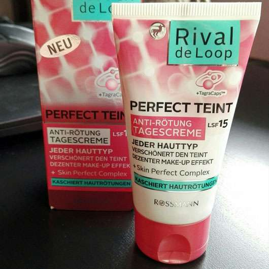 Rival de Loop Perfect Teint Anti-Rötung Tagescreme - Tube und Verpackung